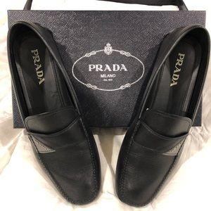 Men's Prada saffiano leather Drivers